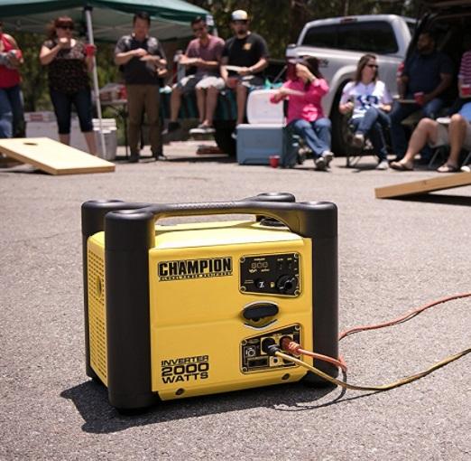 champion 2000 watt inverter generator camping tailgating