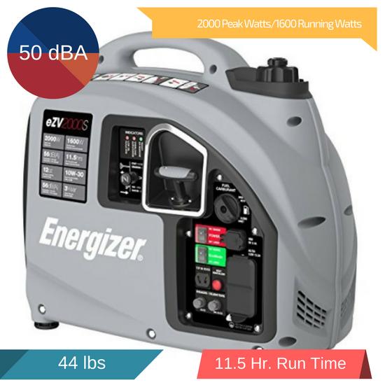 Energizer eZV2000S 2000 Watt Portable Inverter Generator Review 2018