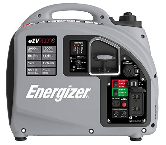 energizer ezv2000s inverter generator specifications