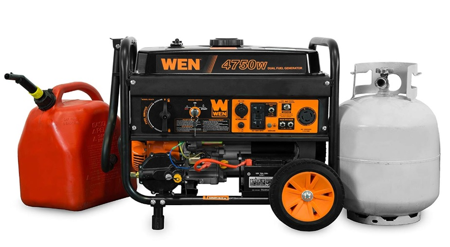 wen df475 dual fuel generator review
